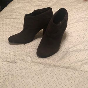 Kate Spade chocolate booties